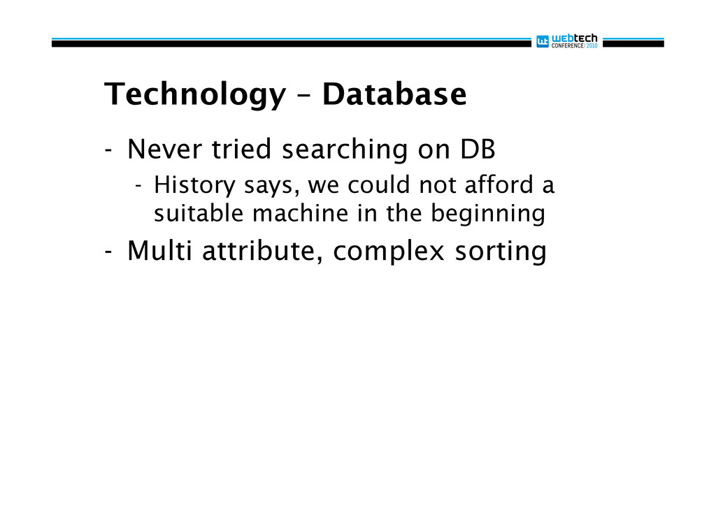 Technology – Database - Never tried searching ...