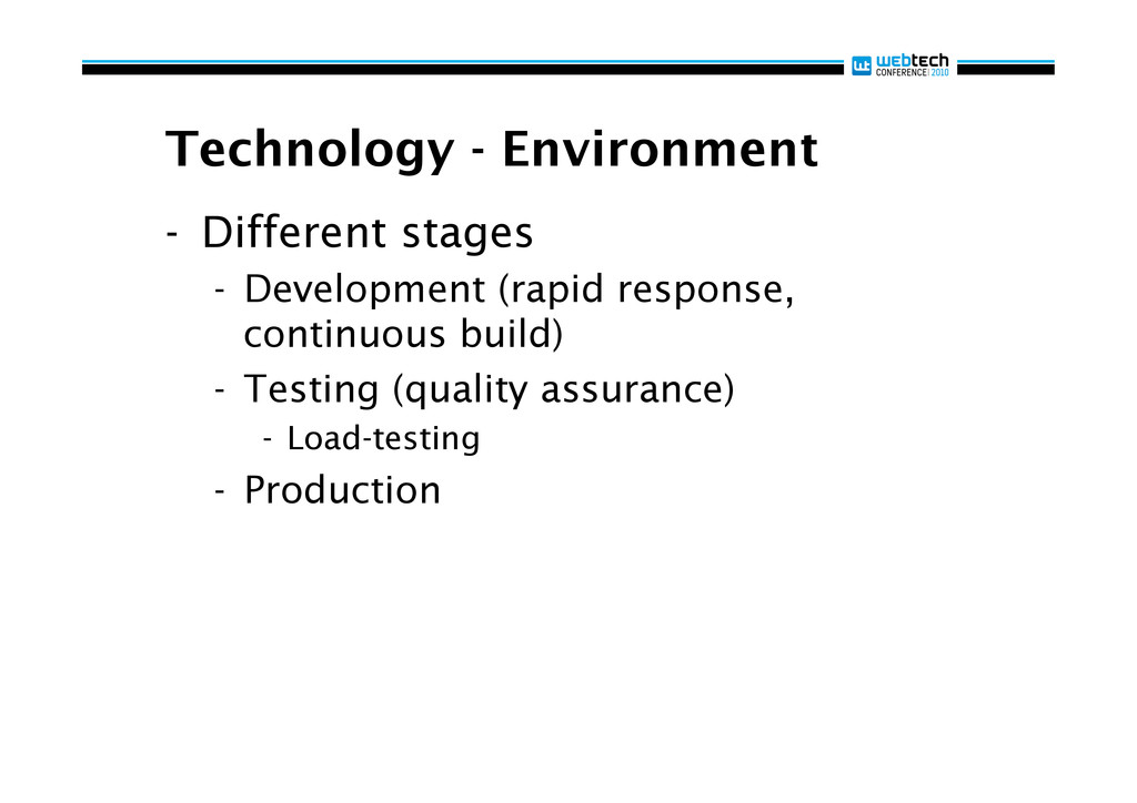 Technology - Environment - Different stages -...