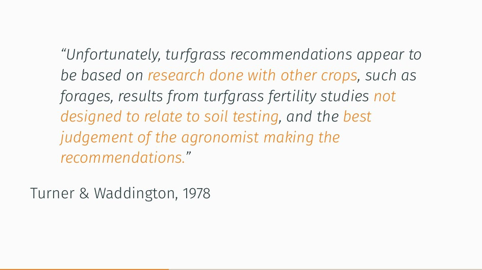 """""""Unfortunately, turfgrass recommendations appea..."""
