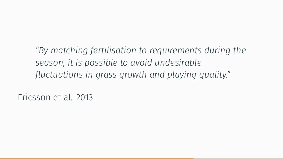 """""""By matching fertilisation to requirements duri..."""
