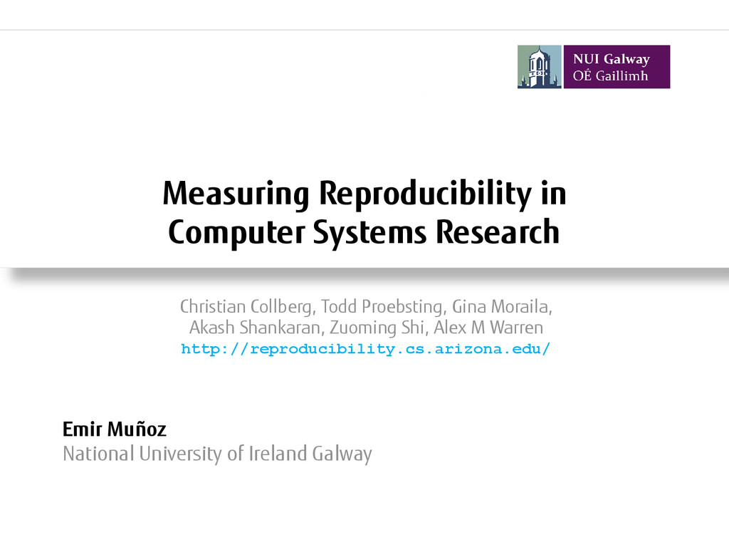 Measuring Reproducibility in Computer Systems R...