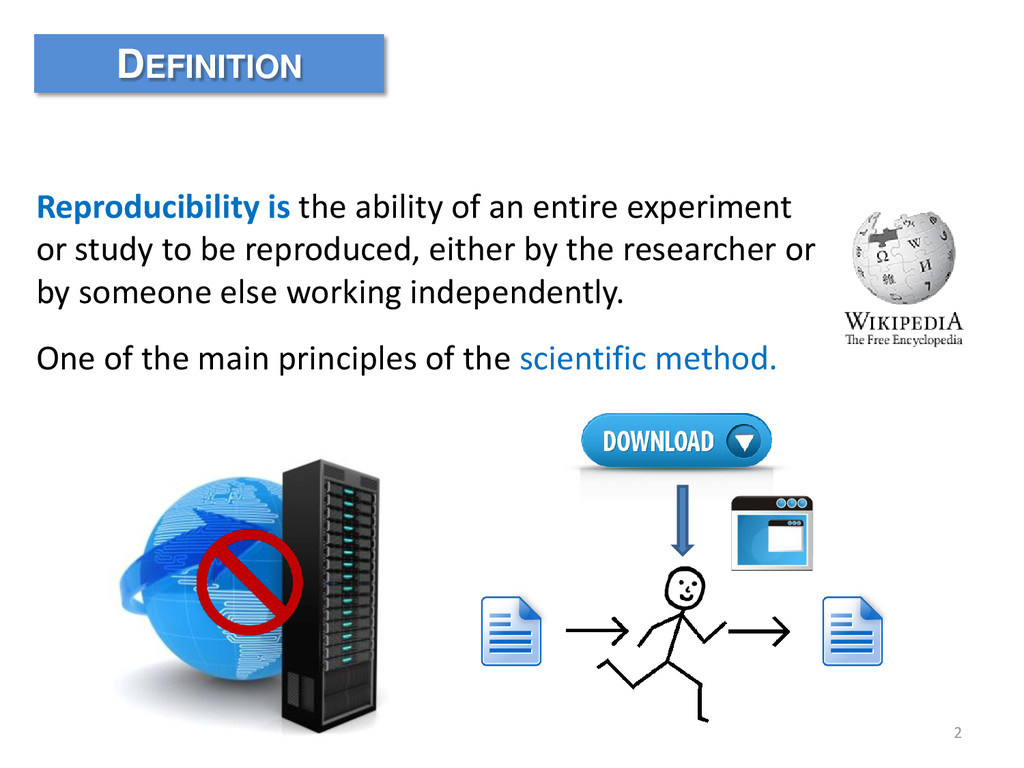 2 Reproducibility is the ability of an entire e...