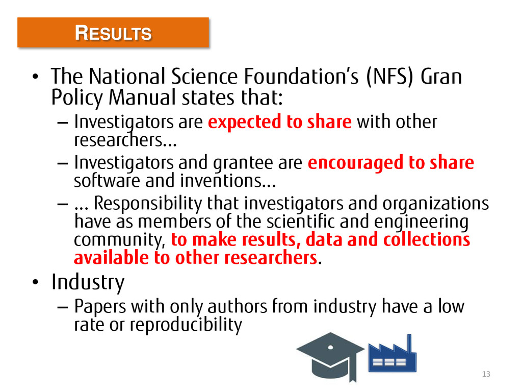 • The National Science Foundation's (NFS) Gran ...