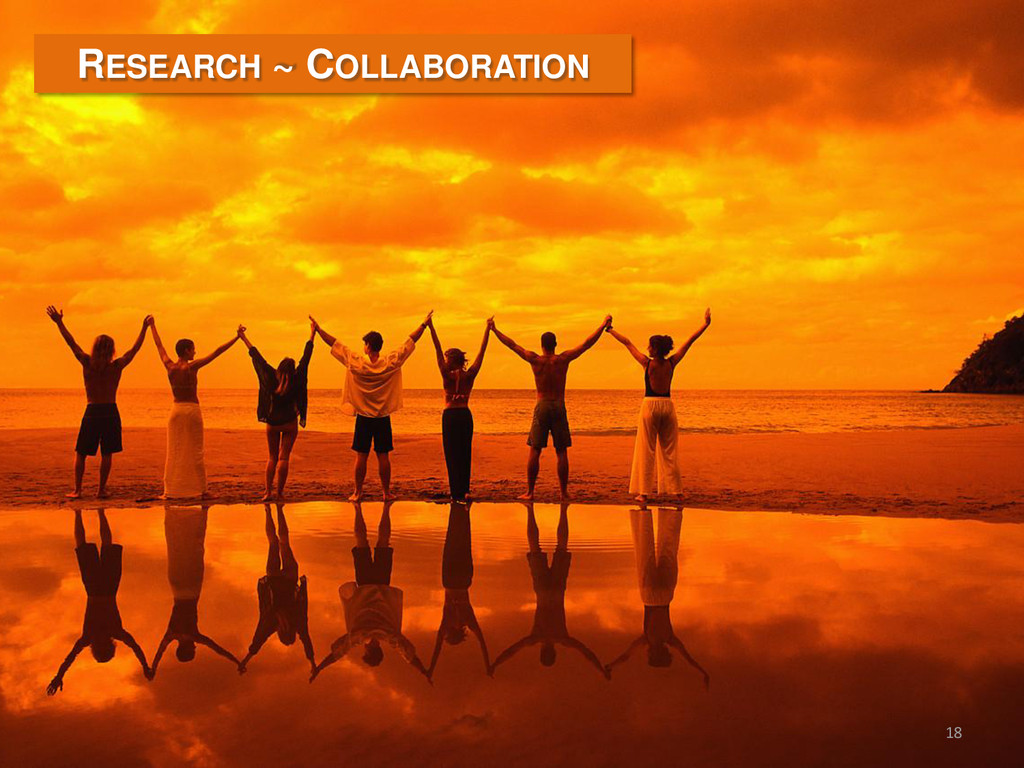 18 RESEARCH ~ COLLABORATION