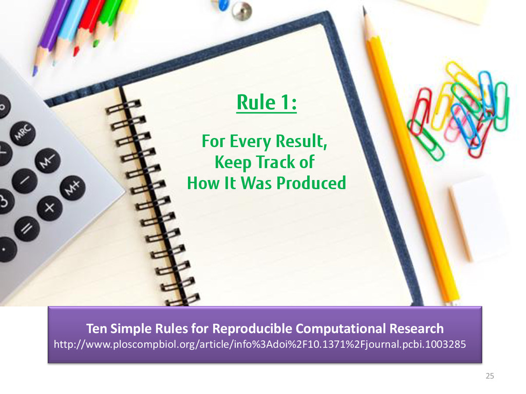 25 Rule 1: For Every Result, Keep Track of How ...
