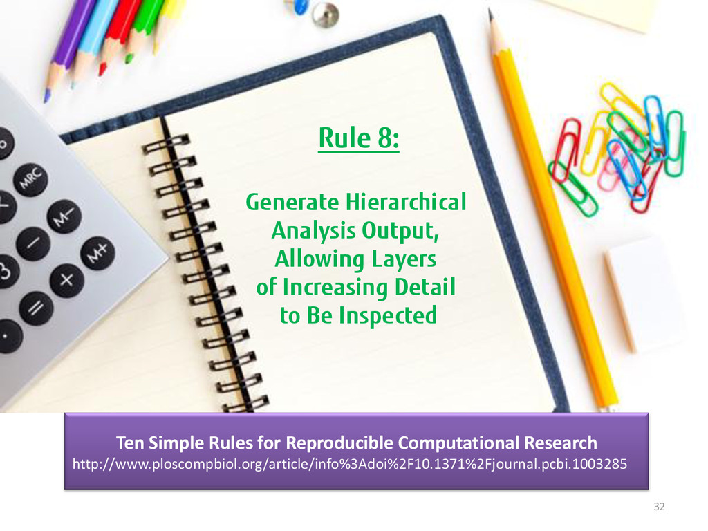 32 Rule 8: Generate Hierarchical Analysis Outpu...