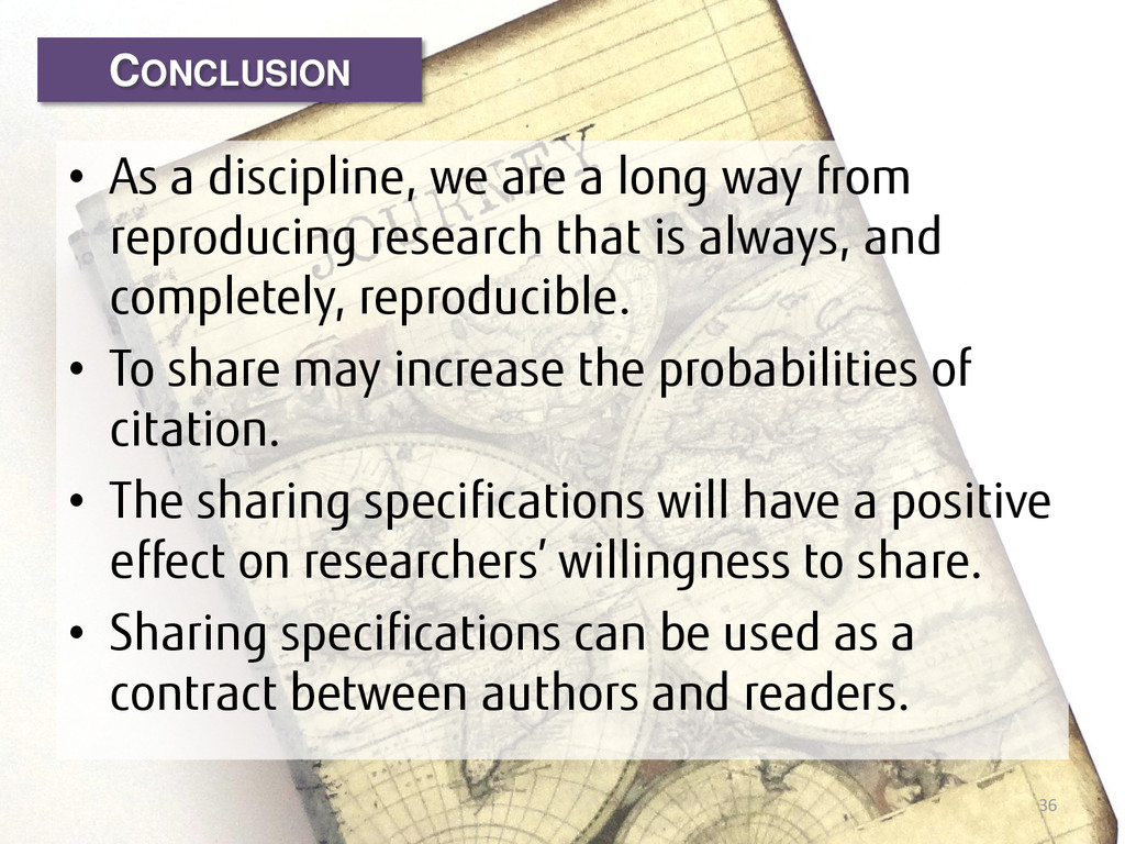 • As a discipline, we are a long way from repro...