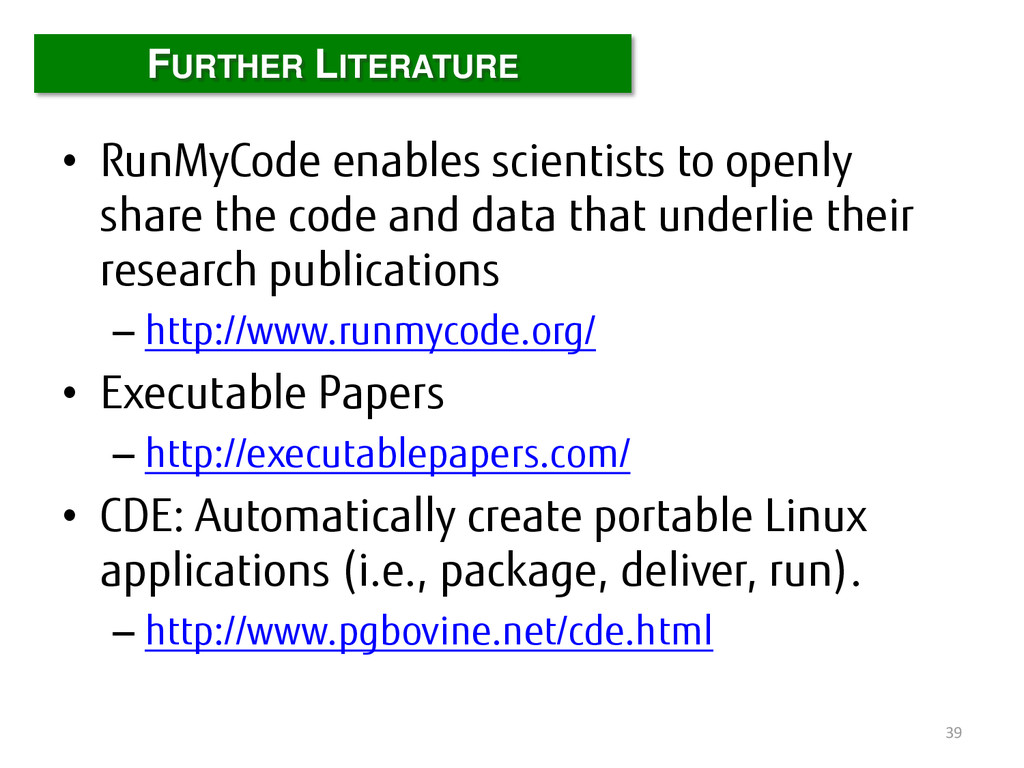 • RunMyCode enables scientists to openly share ...
