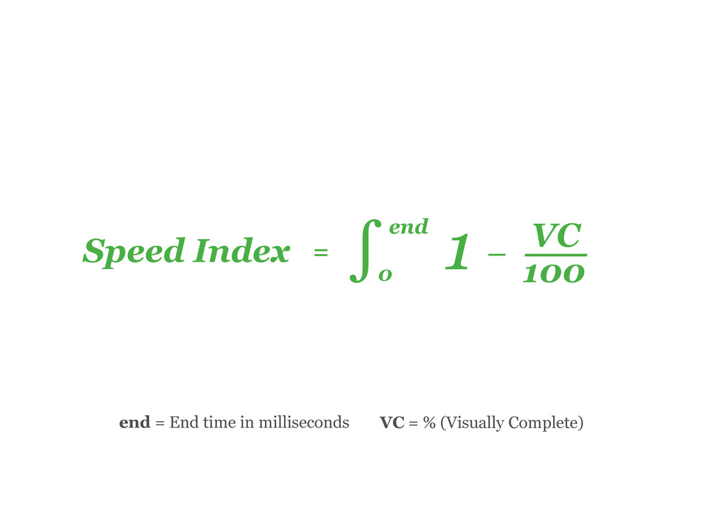 Speed Index = end 0 1 ― 100 VC ∫ ― ― ― end = En...