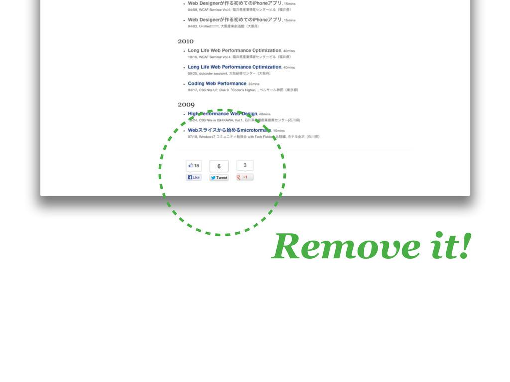 Remove it!