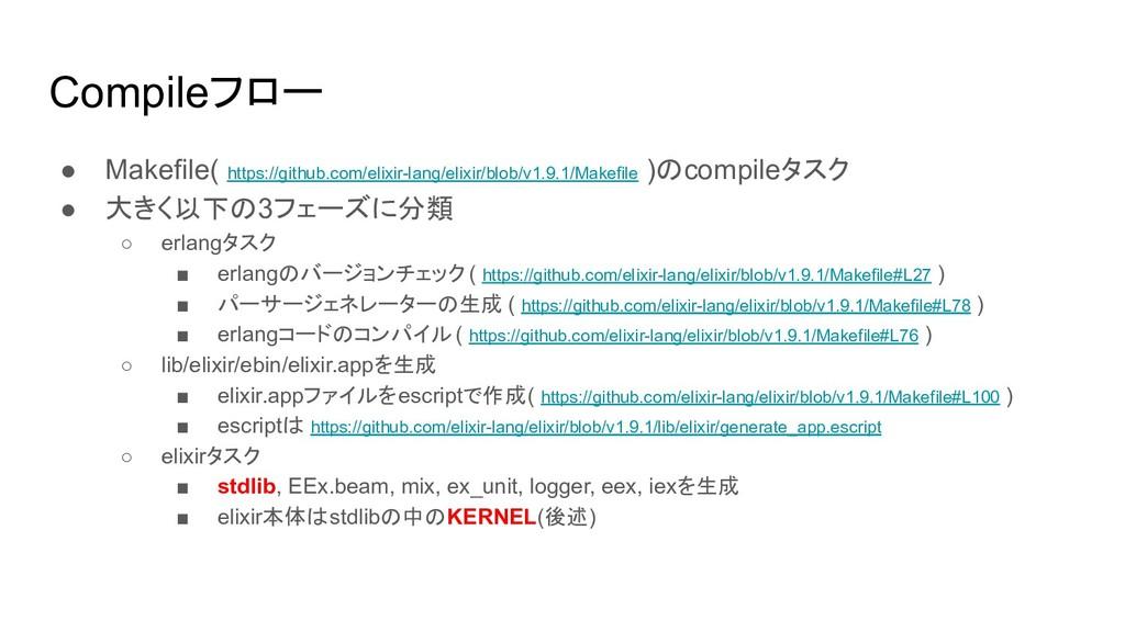Compileフロー ● Makefile( https://github.com/elixi...