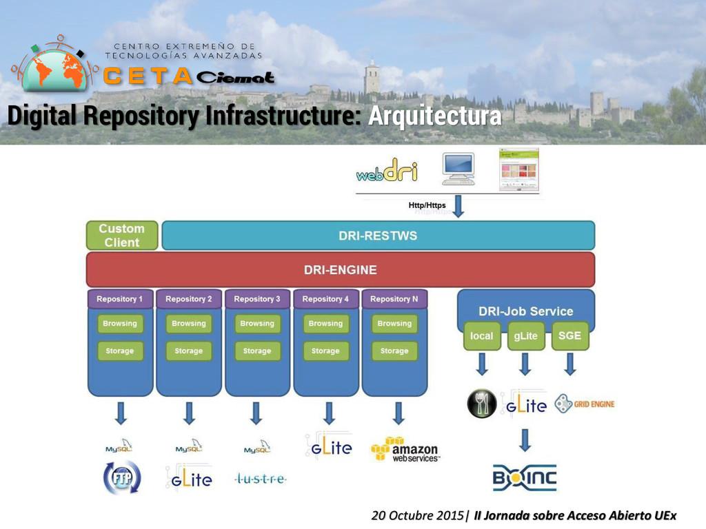 Digital Repository Infrastructure: Arquitectura...