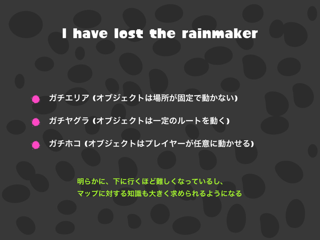 I have lost the rainmaker ΨνΤϦΞ (ΦϒδΣΫτॴ͕ݻఆͰಈ...