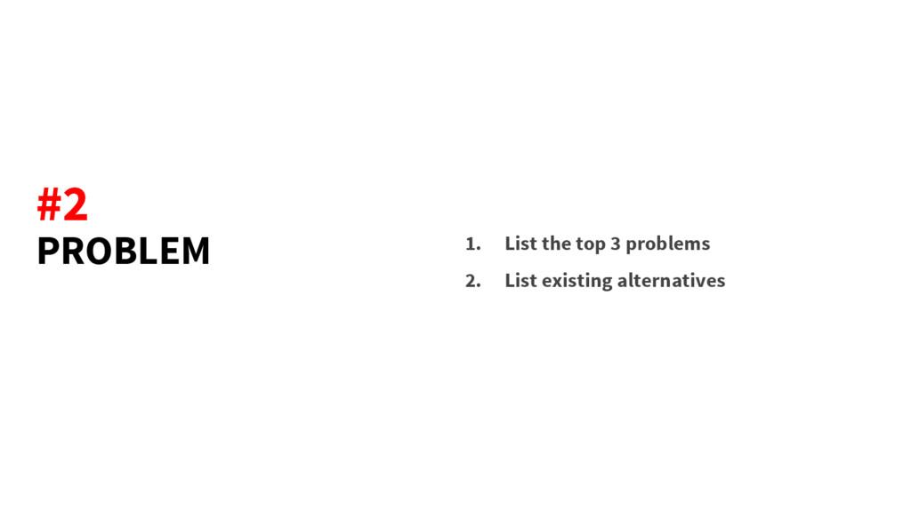 PROBLEM 1. List the top 3 problems 2. List exis...