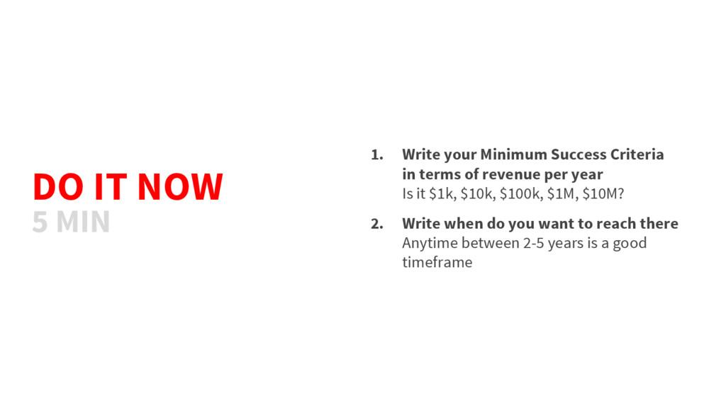 DO IT NOW 1. Write your Minimum Success Criteri...