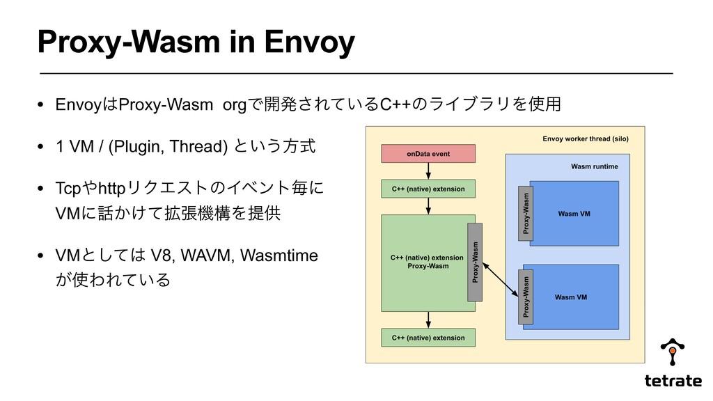 • EnvoyProxy-Wasm orgͰ։ൃ͞Ε͍ͯΔC++ͷϥΠϒϥϦΛ༻ • 1 ...