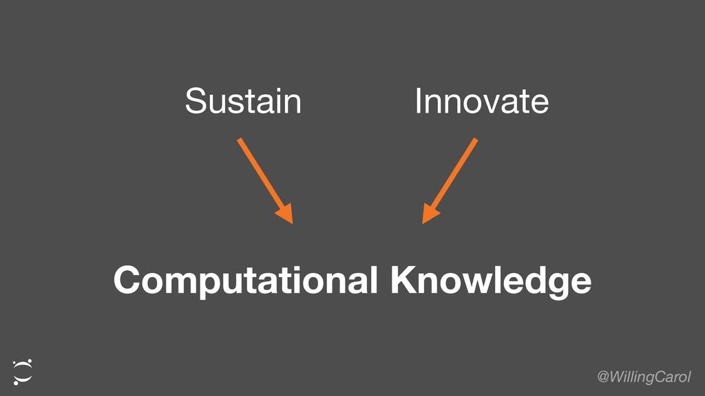 @WillingCarol Sustain Innovate Computational Kn...