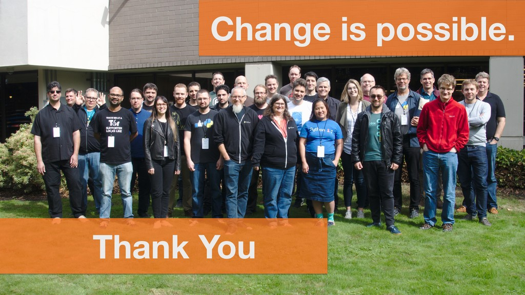 Thank You Change is possible.
