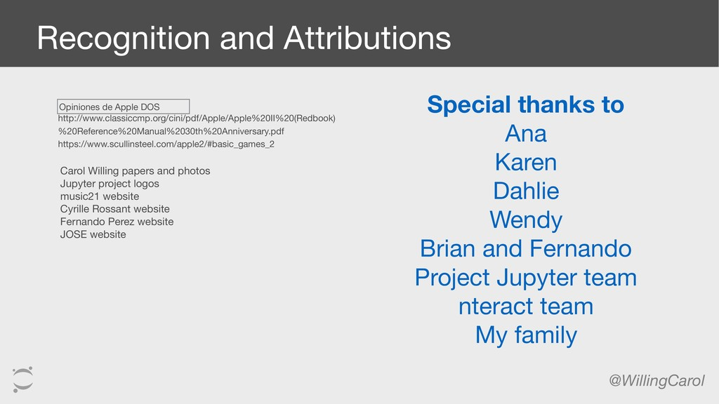 @WillingCarol Recognition and Attributions http...