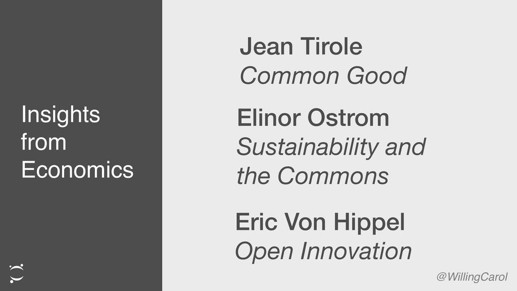 Insights from Economics @WillingCarol Jean Tiro...