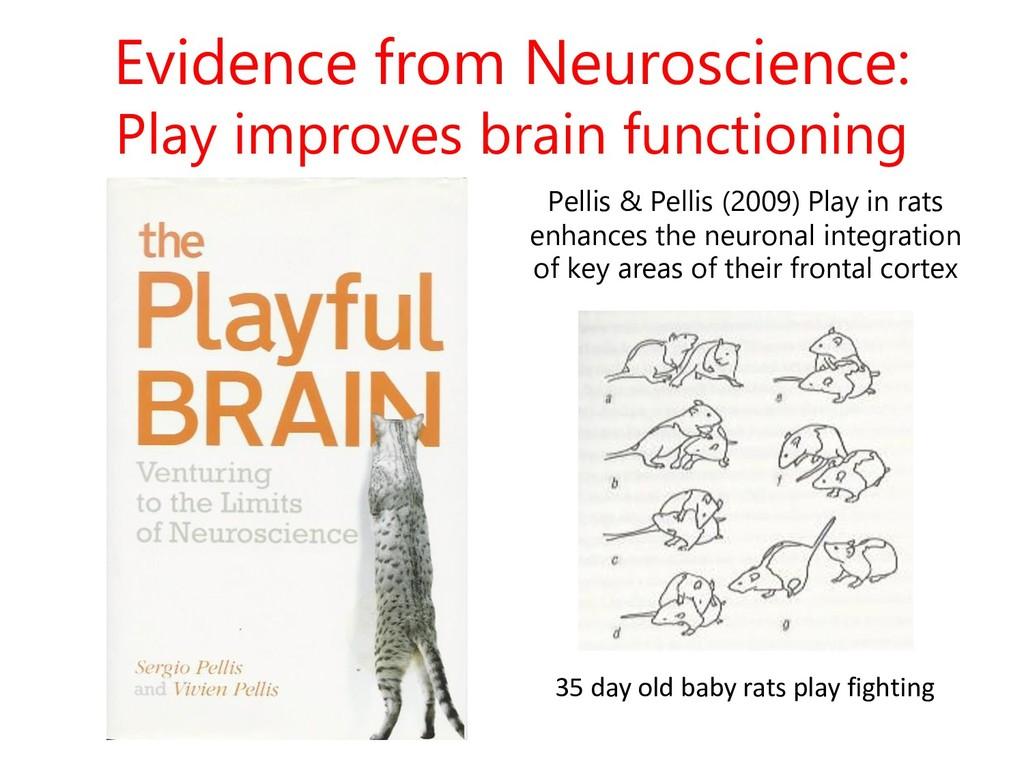 Evidence from Neuroscience: Play improves brain...