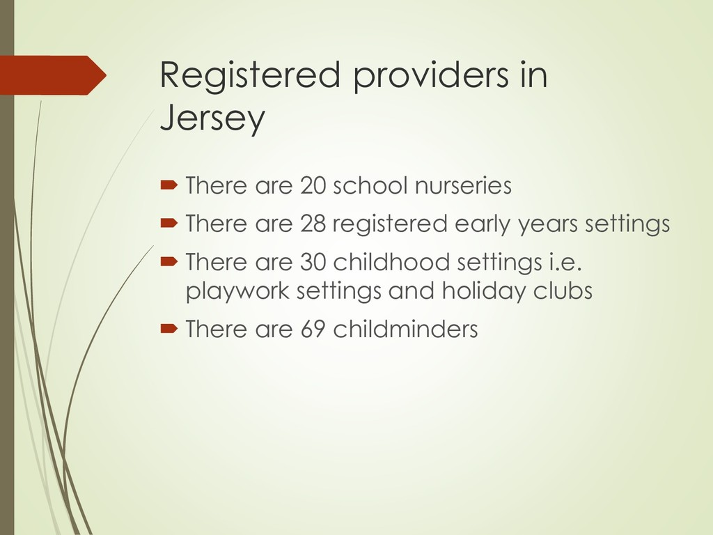 Registered providers in Jersey  There are 20 s...
