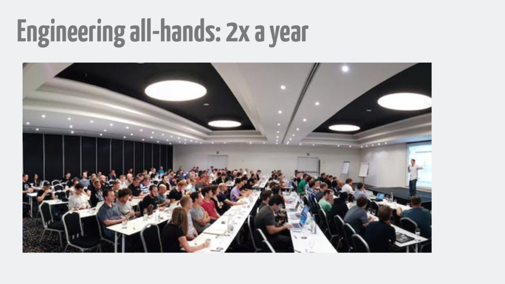 Engineering all-hands: 2x a year