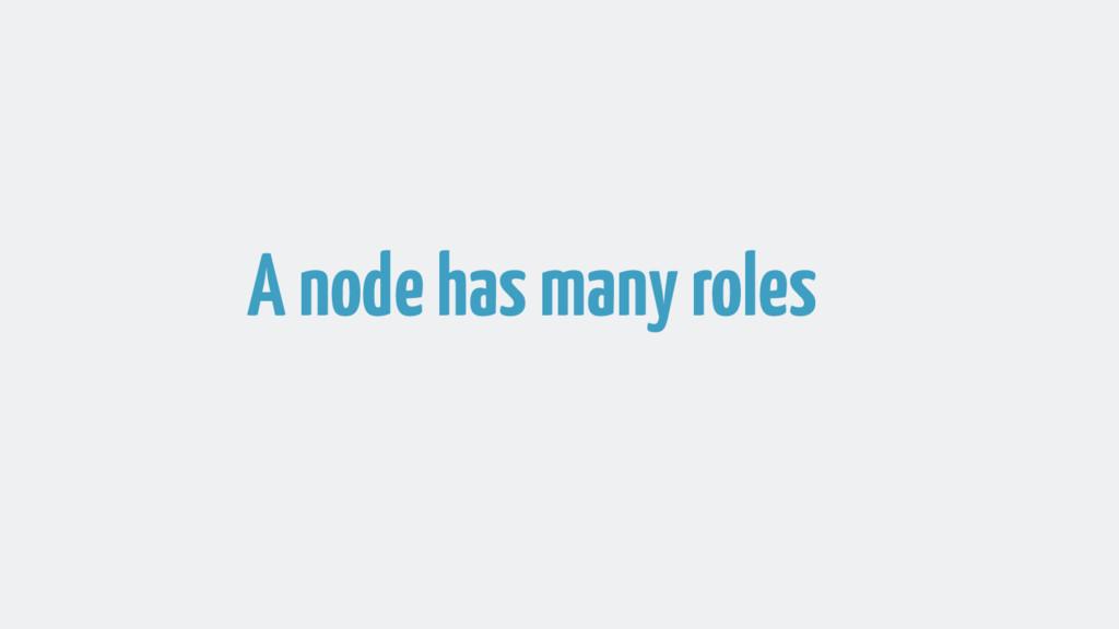 A node has many roles