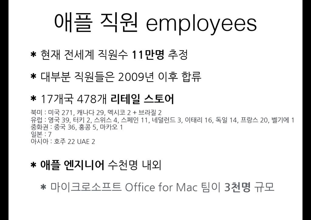 গ ਗ employees ✱ 현재 전세계 직원수 11만명 추정 ✱ 대부분 직원들은...