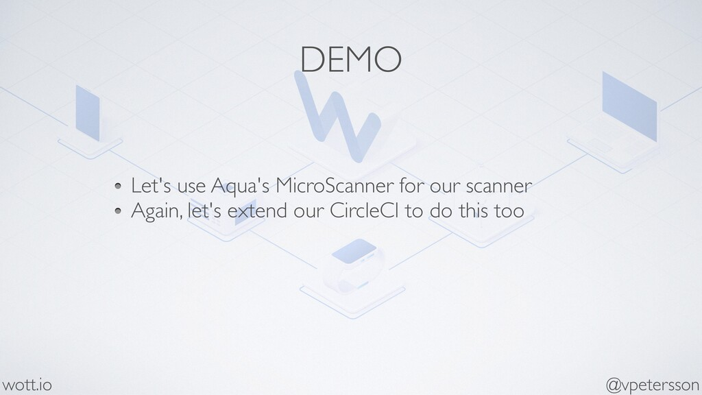 DEMO Let's use Aqua's MicroScanner for our scan...