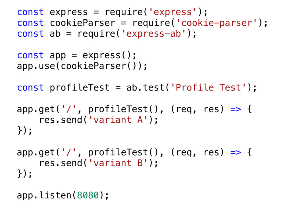 const express = require('express'); const cooki...