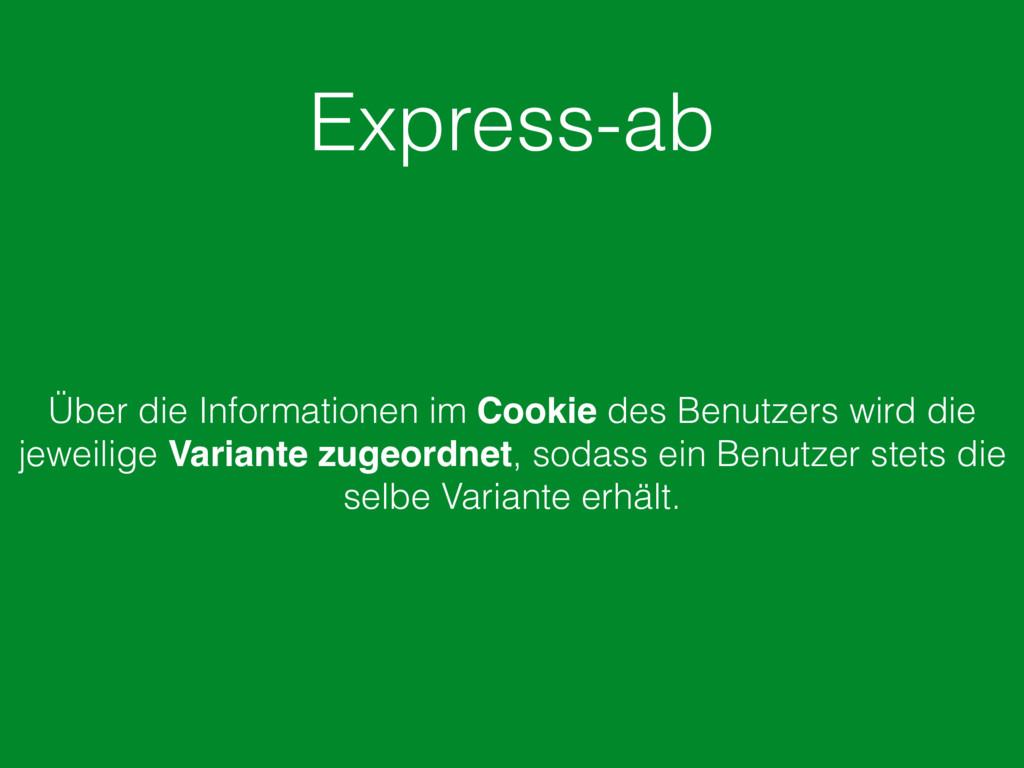 Express-ab Über die Informationen im Cookie des...