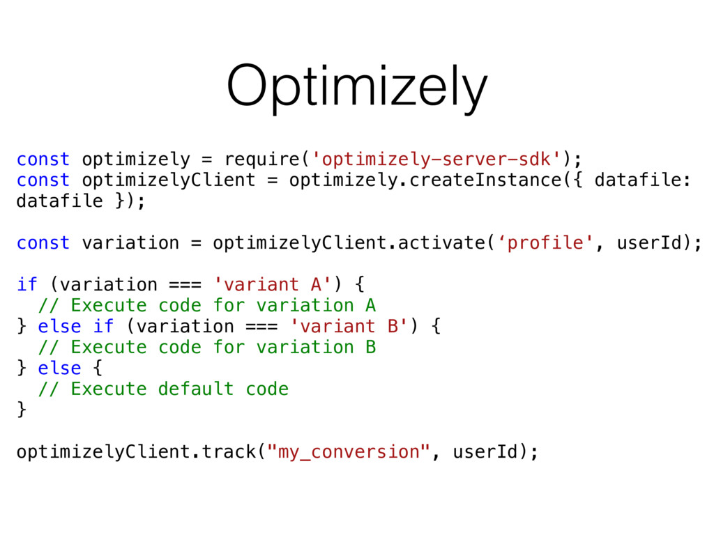 Optimizely const optimizely = require('optimize...