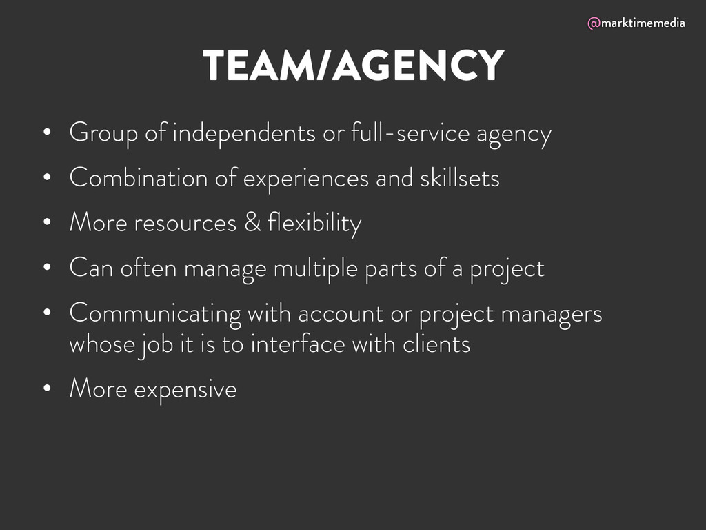 @marktimemedia TEAM/AGENCY • Group of independ...