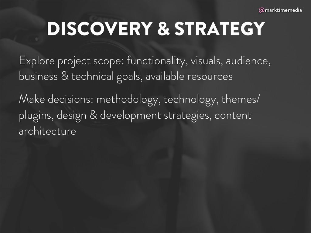 @marktimemedia DISCOVERY & STRATEGY Explore pro...