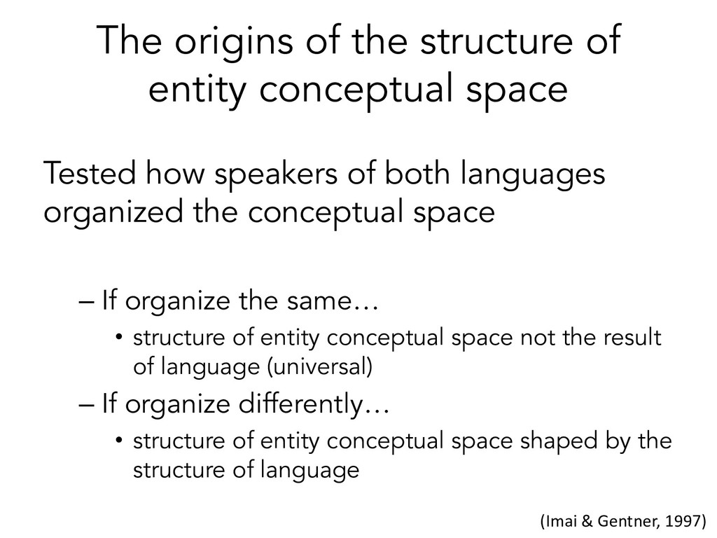 The origins of the structure of entity conceptu...