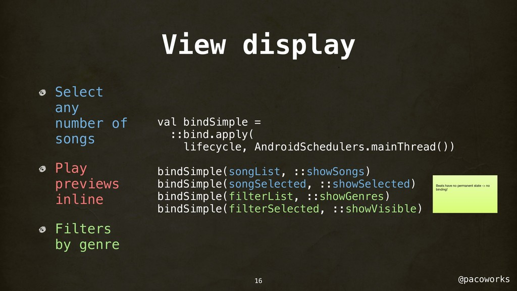 @pacoworks View display Select any number of so...