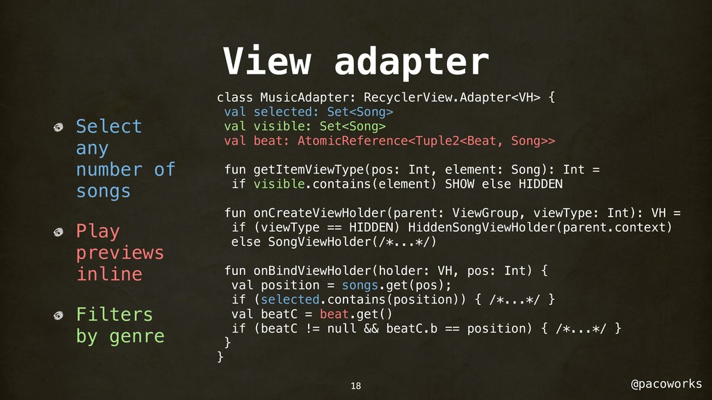 @pacoworks View adapter Select any number of so...