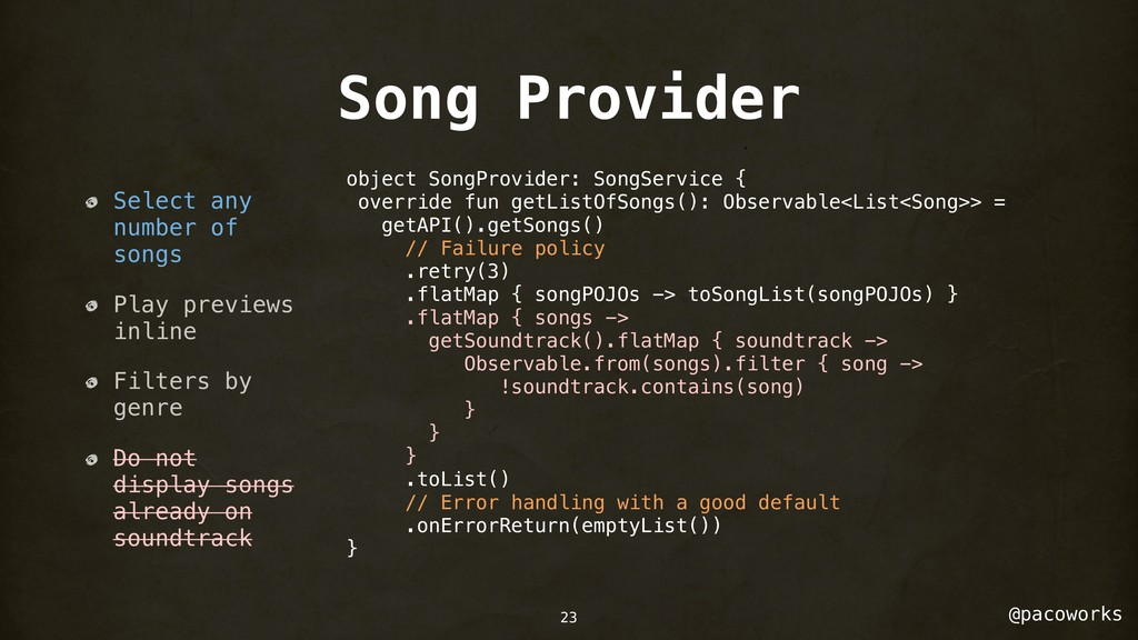 @pacoworks Song Provider Select any number of s...