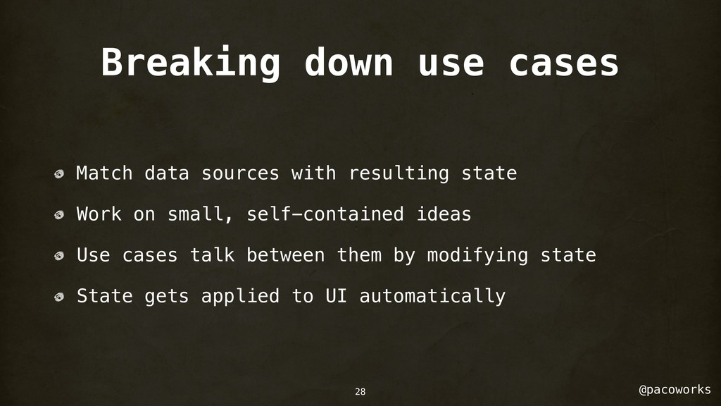 @pacoworks Breaking down use cases Match data s...