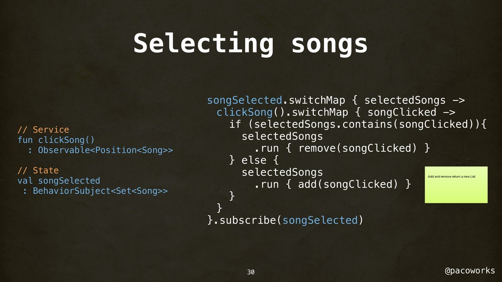 @pacoworks Selecting songs 30 // Service fun cl...