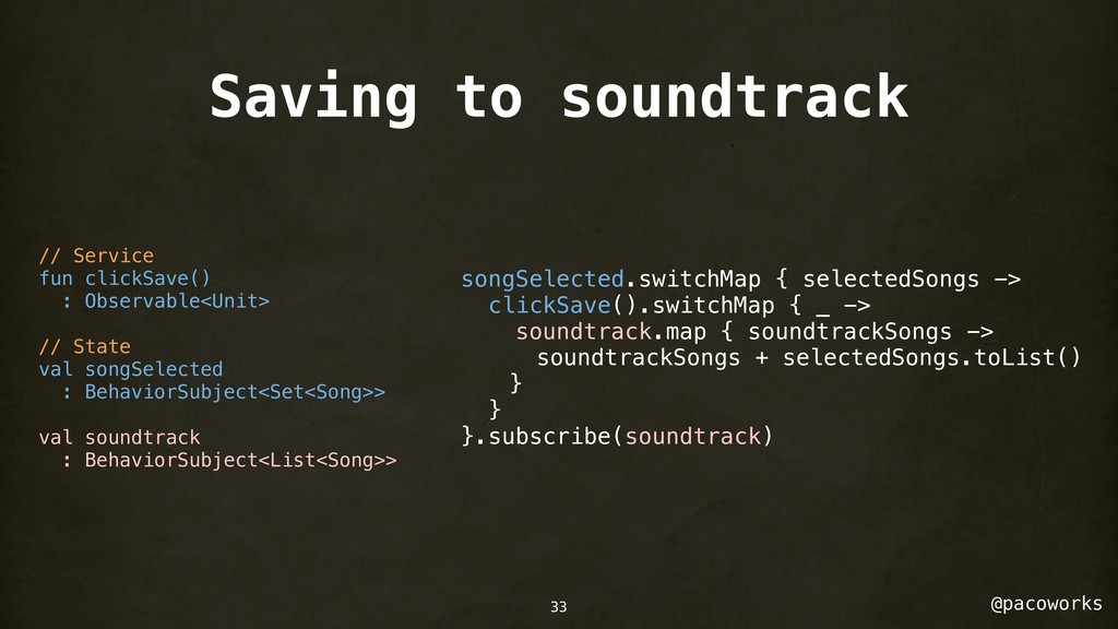 @pacoworks Saving to soundtrack 33 // Service f...