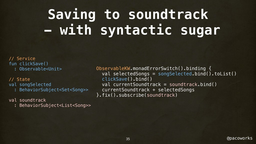 @pacoworks Saving to soundtrack - with syntacti...
