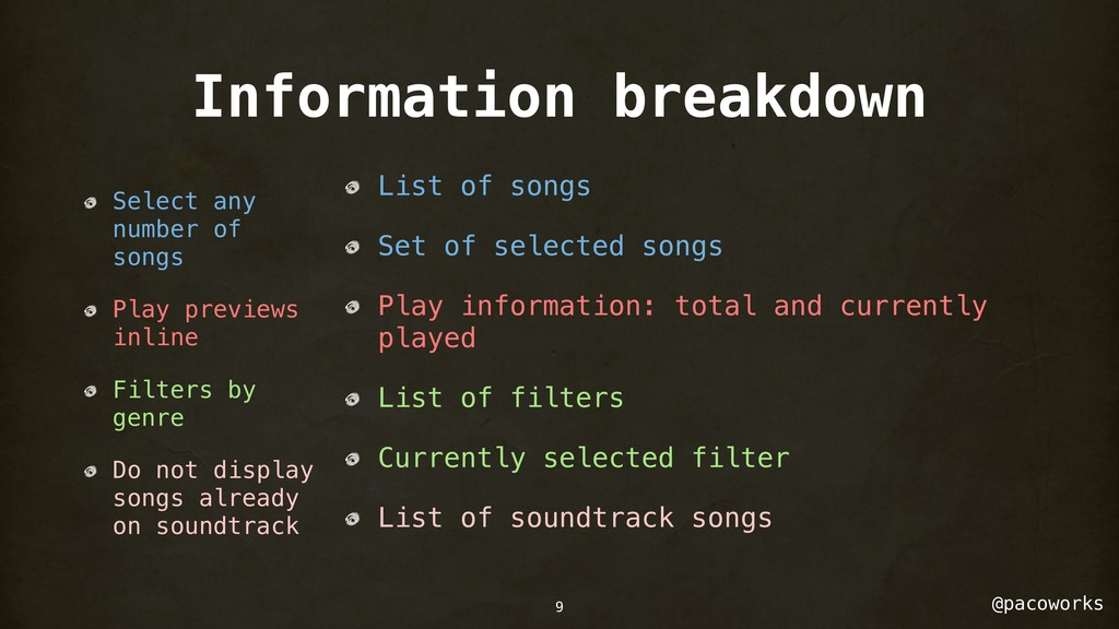 @pacoworks Information breakdown Select any num...