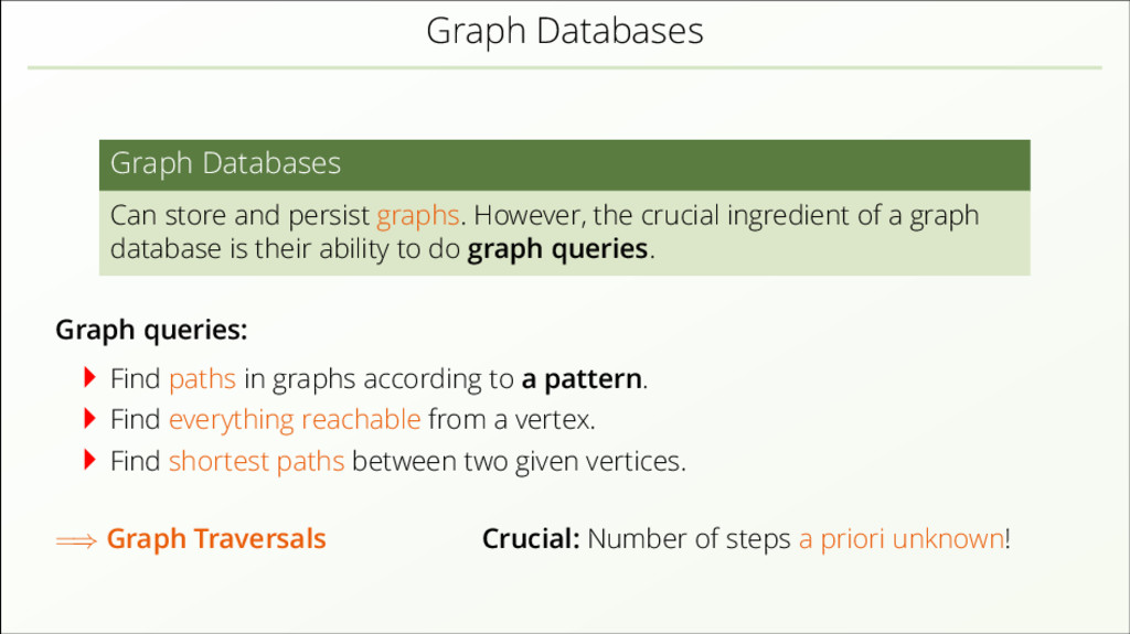 Graph Databases Graph Databases Can store and p...