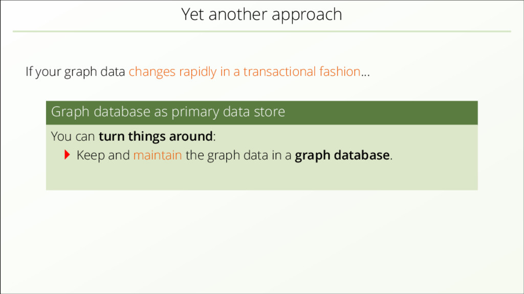Yet another approach If your graph data changes...