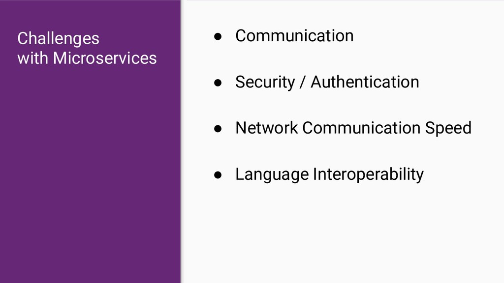 ● Communication ● Security / Authentication ● N...