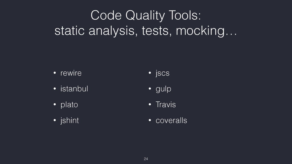 Code Quality Tools: