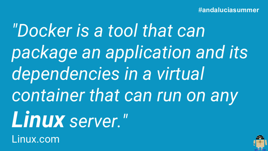 """""""Docker is a tool that can package an applicati..."""