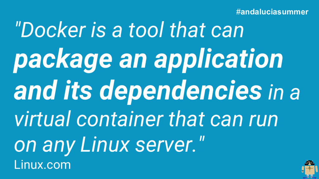 """Docker is a tool that can package an applicati..."